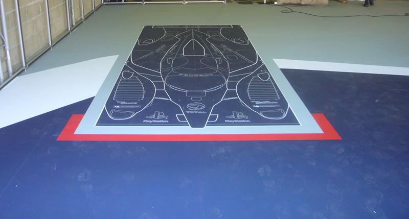 Impression adhésif de sol pour les 24h du Mans