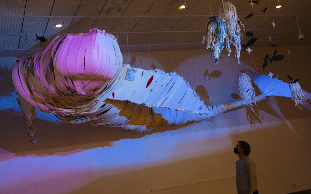 Exposition du Muséum-Aquarium de Nancy avec Baleine en PVC